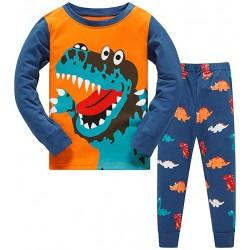 Πυτζάμα Με Δεινόσαυρους Για Παιδιά - Σετ Βαμβακερή Παιδική Πιτζάμα για Αγόρια και Κορίτσια