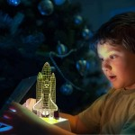 Μοντέρνο Φωτιστικό για Παιδικό Δωμάτιο σε σχήμα Πυραύλου - Παιδικές Λάμπες Νυκτός / Γραφείου Για Δωμάτιο Αγοριού Πύραυλος
