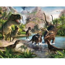 Μεγάλη Tαπετσαρία Τοίχου Για Παιδικό Βρεφικό Δωμάτιο Με Δεινόσαυρους - Παιδικές Ταπετσαρίες Με Φωτογραφία Για Αγόρια