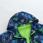 Βρεφικό Μπουφάν Για Αγόρια και Κορίτσια Με Δεινόσαυρους - Χρώμα Μπλε/Πράσινο