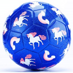 Μπάλα Προπόνησης Ποδοσφαίρου για παιδιά από 3 ετών και άνω - Μπλε Χρώμα με Σχέδιο Μονόκερου