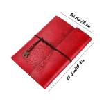 Γυναικείο Σημειωματάριο Με Κρίκους και Σκληρό Εξώφυλλο - Κόκκινο Χρώμα - Δώρο Για Γυναίκες