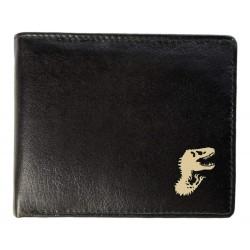 Δερμάτινο Μαυρο Ανδρικό Πορτοφόλι Με Δεινόσαυρους - Δώρο Για Εφήβους & Ανδρες