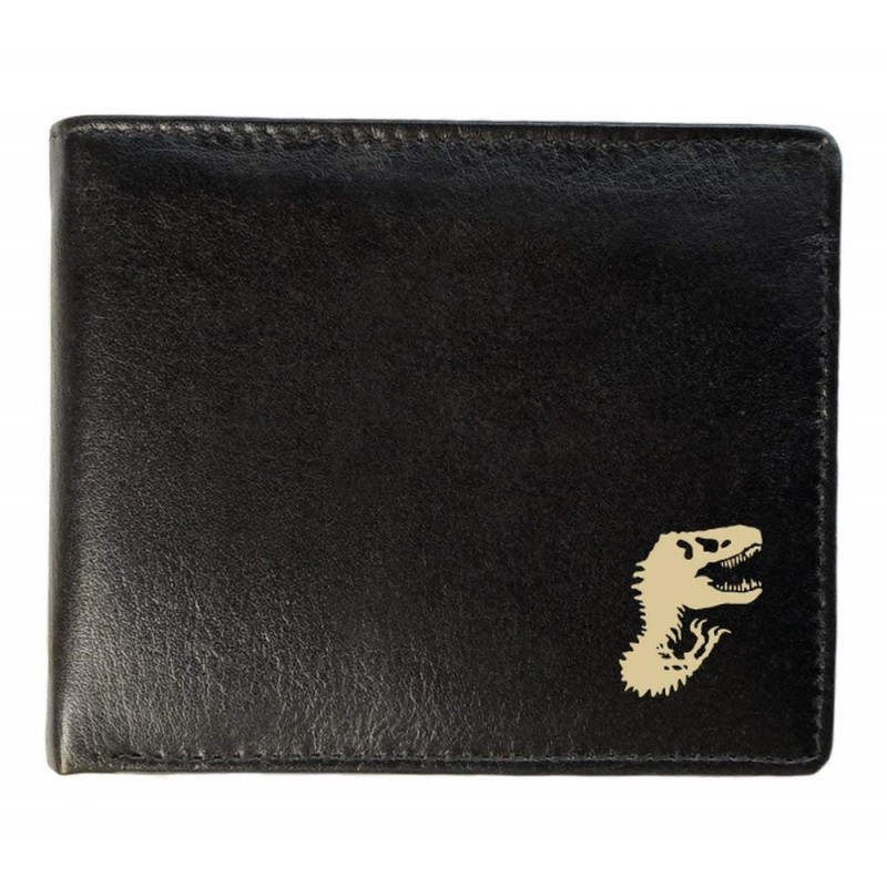 bfc8dea5ef Δερμάτινο Μαυρο Ανδρικό Πορτοφόλι Με Δεινόσαυρους - Δώρο Για Εφήβους    Ανδρες