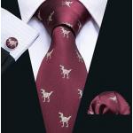 Ανδρική Γραβάτα Με Δεινόσαυρους με μαντήλι και μανικετόκουμπα - Δώρο Για Ανδρες