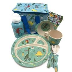 Σετ Φαγητού Για Παιδιά Με Δεινόσαυρο 8τμχ Χρηστικό Δώρο Με Δεινόσαυρους Για Αγόρια Και Κορίτσια