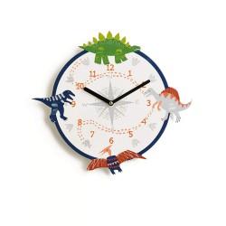 Ρολόγια Τοίχου Με Δεινόσαυρο - Ρολόι Δεινόσαυρος Για Παιδικό Δωμάτιο για Αγόρια και Κορίτσια