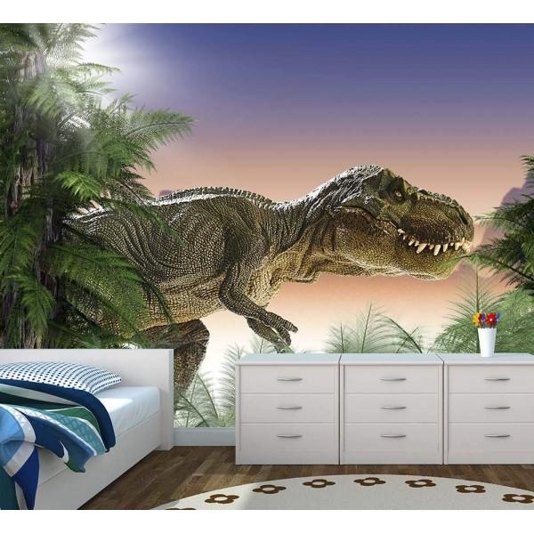 Μεγάλη Tαπετσαρία Τοίχου Για Παιδικό Βρεφικό Δωμάτιο Με Δεινόσαυρους - Παιδικές Ταπετσαρίες Jurassic World Με Φωτογραφία του T-Rex Για Αγόρια
