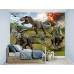 Μεγάλη Tαπετσαρία Τοίχου Για Παιδικό Βρεφικό Δωμάτιο Με Δεινόσαυρους - Παιδικές Ταπετσαρίες Jurassic World Με Φωτογραφία Για Αγόρια